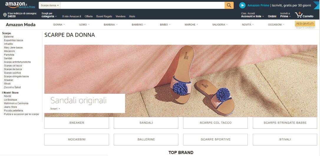 amazon scarpe
